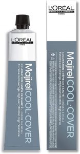 Vopsea de par permanenta L`Oreal Professionnel Majirel Cool Cover 7.18, Mocha, 50 ml0