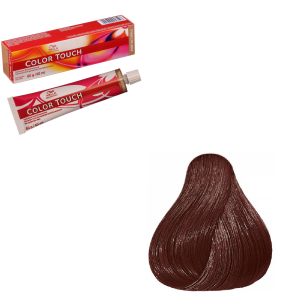 Vopsea de par semi-permanenta Wella Professionals Color Touch 6/75, Blond Inchis Castaniu Mahon, 60 ml0