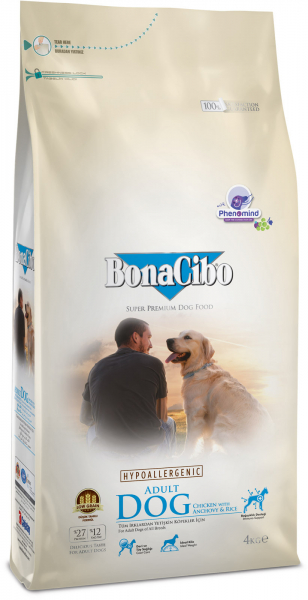 BonaCibo Adult Dog Chicken&Rice with Anchovy 100G 0