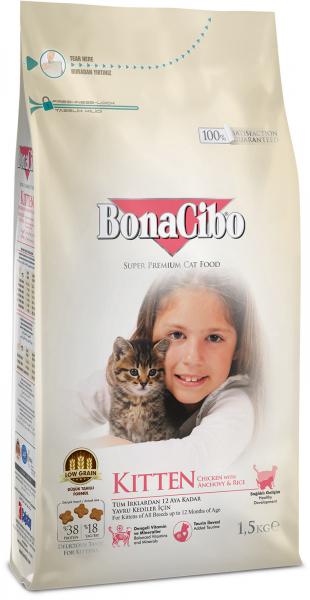 BonaCibo Kitten Chicken&Rice with Anchovy [0]