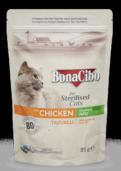 BonaCibo Adult Pisica Sterilizata Pui 0