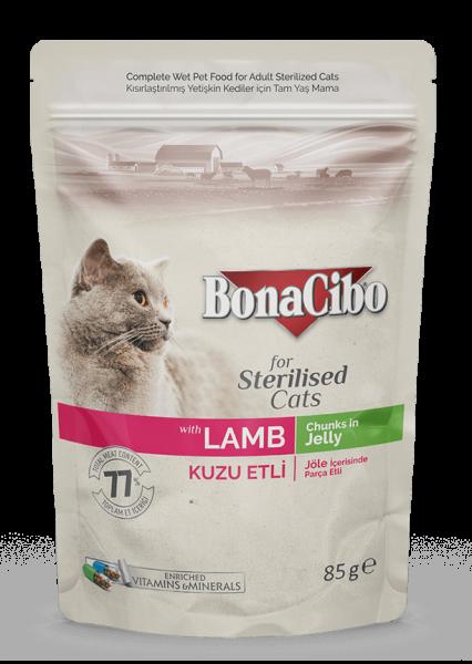 BonaCibo Adult Pisica Sterilizata Miel 0