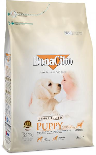 BonaCibo Puppy Chicken&Rice with Anchovy 100G 0