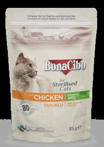 BonaCibo Adult Pisica Sterilizata Pui