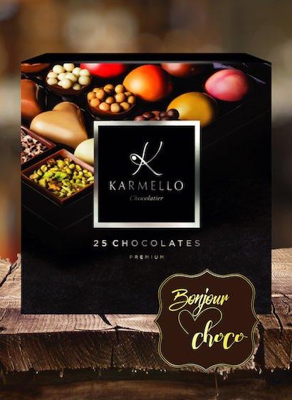 Asortiment premium 25 bomboane ciocolată