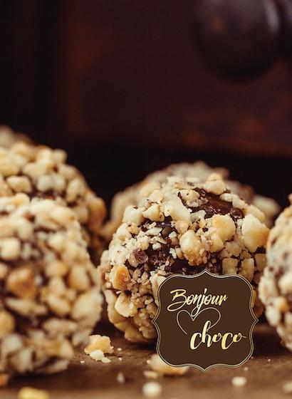 Bomboane de ciocolată cu gianduja