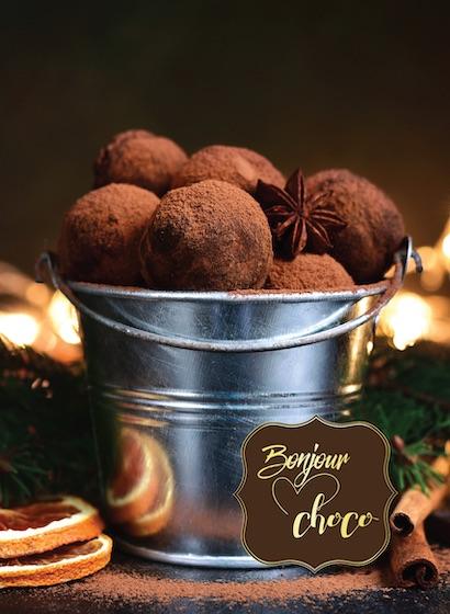 Trufe de ciocolată cu caramel sărat