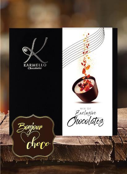 Asortiment premium 16 bomboane ciocolată