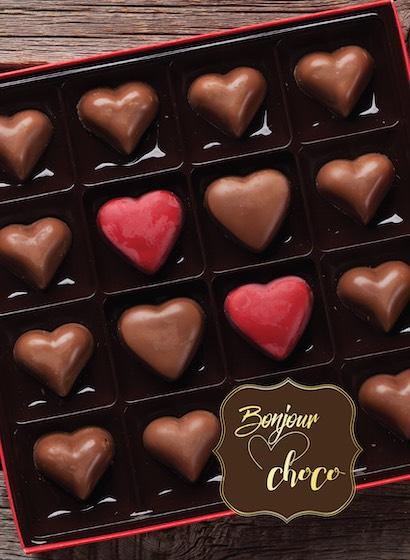 Inimi de ciocolată cu umplutură