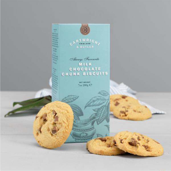 Biscuiti cu ciocolata cu lapte in cutie carton 200G [2]