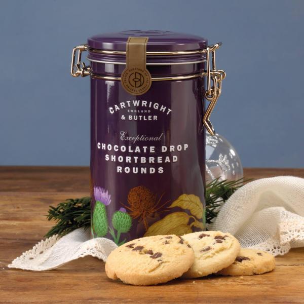 Biscuiti cu ciocolata in cutie metalica 200G [2]