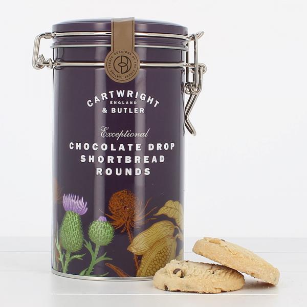 Biscuiti cu ciocolata in cutie metalica 200G [1]