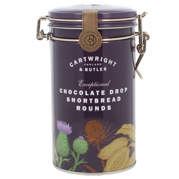 Biscuiti cu ciocolata in cutie metalica 200G [0]
