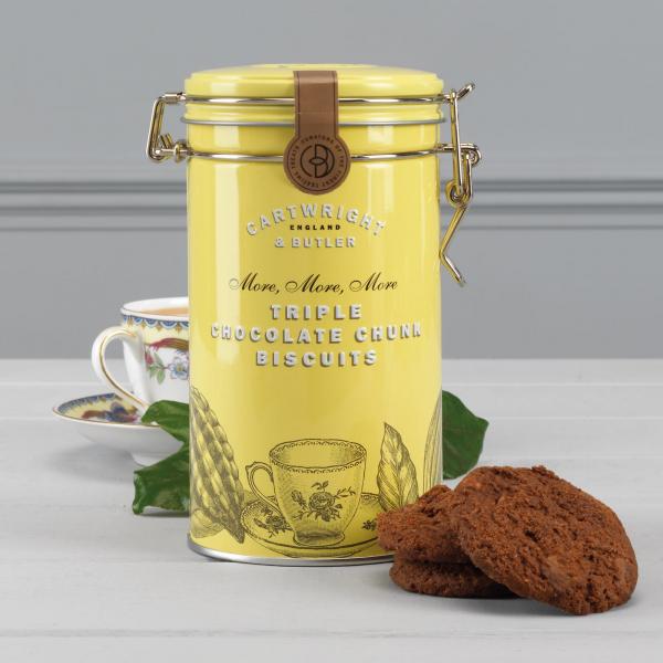 Biscuiti cu trei tipuri de ciocolata in cutie metalica 200G [3]