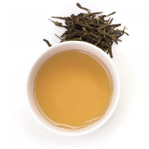 Ceai verde organic Gariguette cu capsuni si rubarba 100G [1]