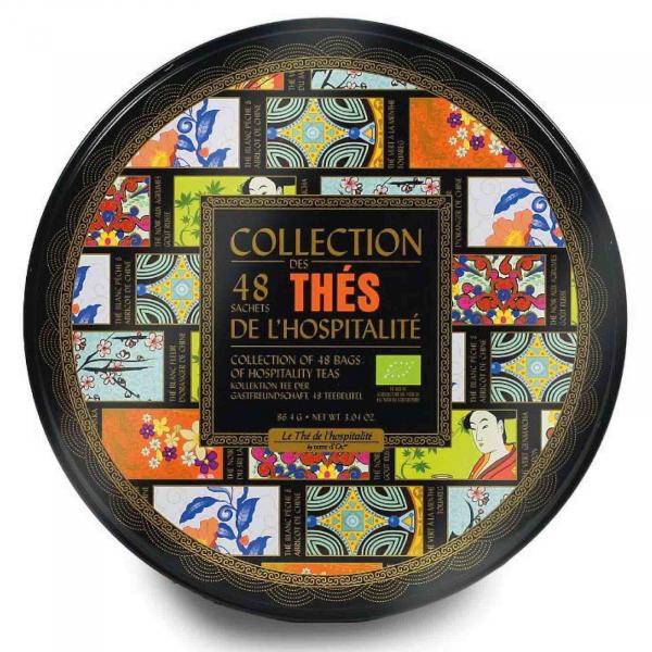 Ceaiurile ospitalitatii - cutie metalica cu 48 pliculete ceaiuri organice 86.4G [0]