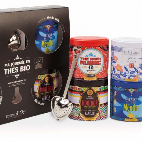 Calatoria mea in lumea ceaiului - set 4 ceaiuri organice cu infuzor 105G [1]