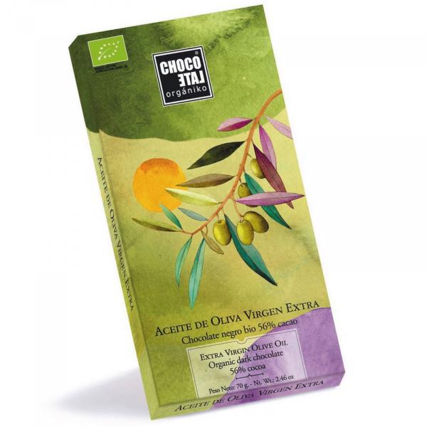 Ciocolata neagra organica 56% cacao cu ulei de masline extravirgin 70G [0]
