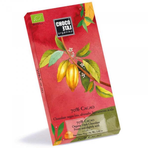 Ciocolata neagra organica 70% cacao 70G [0]