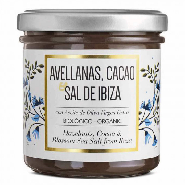 Crema de ciocolata organica cu alune de padure si Sal de Ibiza 150G [0]