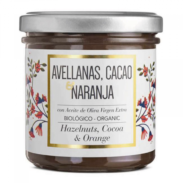 Crema de ciocolata organica cu alune de padure si portocale 150G [0]