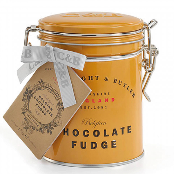 Fudge cu ciocolata belgiana in cutie metalica 175G [0]
