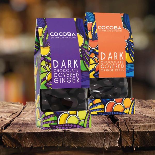 Ghimbir învelit în ciocolată neagră 175G [4]
