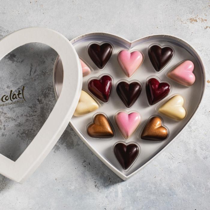 Heart Box - Inimi de ciocolata cu umplutura 130G [1]