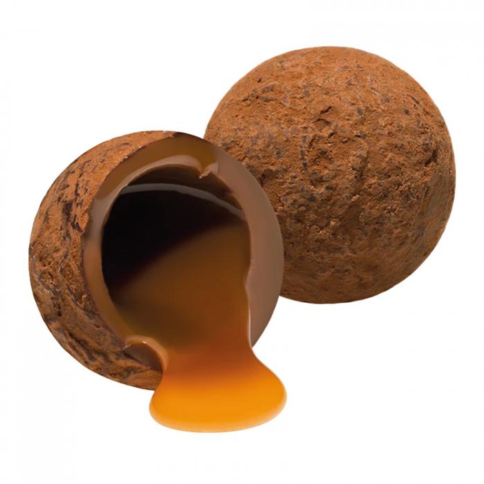 Trufe de ciocolata cu lapte si caramel sarat 120G [2]