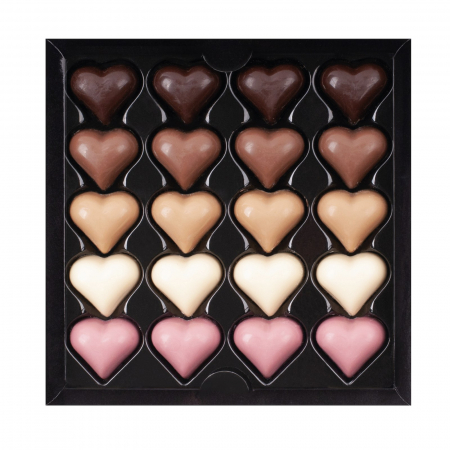Asortiment 20 inimi de ciocolata cu umplutura [0]
