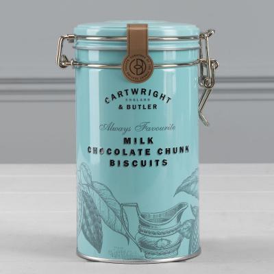 Biscuiti cu ciocolata cu lapte in cutie metalica 200G [2]