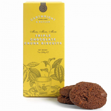 Biscuiti cu trei tipuri de ciocolata in cutie carton 200G [0]