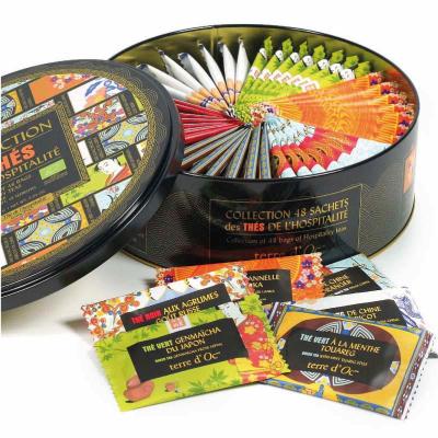 Ceaiurile ospitalitatii - cutie metalica cu 48 pliculete ceaiuri organice 86.4G [1]