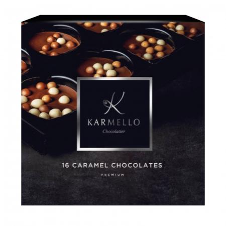 Asortiment premium 16 bomboane de ciocolata cu caramel [0]