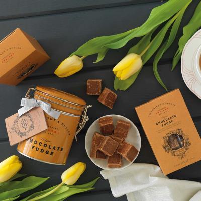 Fudge cu ciocolata belgiana in cutie metalica 175G [2]