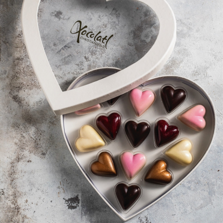 Heart Box - Inimi de ciocolata cu umplutura 130G [3]