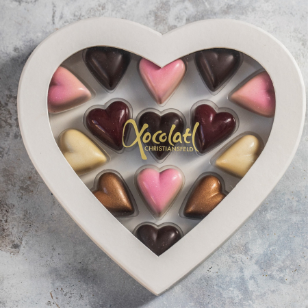 Heart Box - Inimi de ciocolata cu umplutura 130G [0]