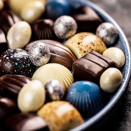 Limited Blue 9 - Selectie premium bomboane de ciocolata 80G [2]