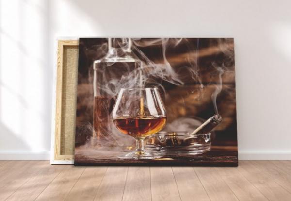 Tablou canvas - SMOKE AND WHISKEY 1