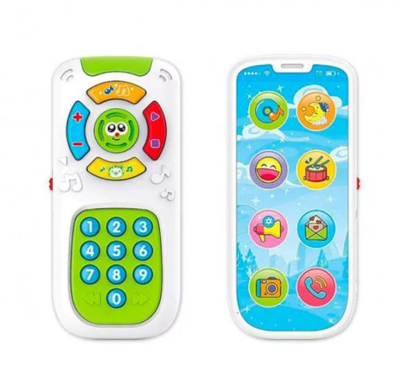 Jucarie interactiva 2 in 1, Telecomanda si Telefon Smartphone 0