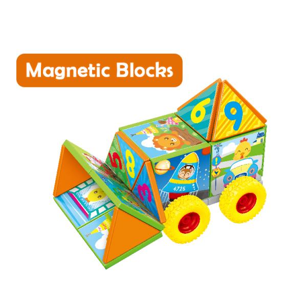 Joc set constructii magnetice si puzzle, Magnetic Cubes, 40 piese 3