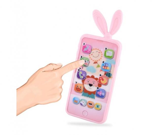 Jucarie interactiva telefon, Smart Phones Toys, + 3 luni, 3
