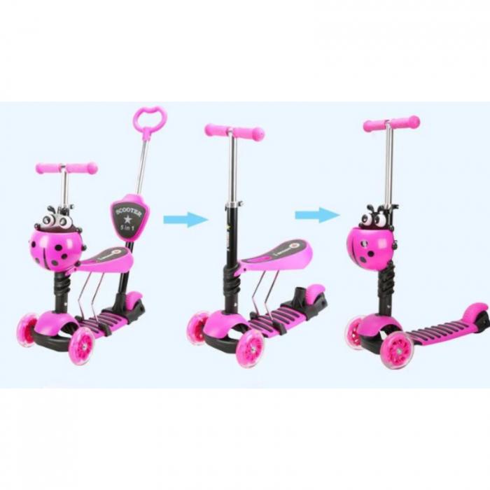 Trotineta evolutiva Scooter 5 in 1 pentru copii (4 culori disponibile) 2