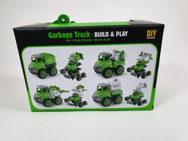 Mașină de gunoi, de construit DIY 4