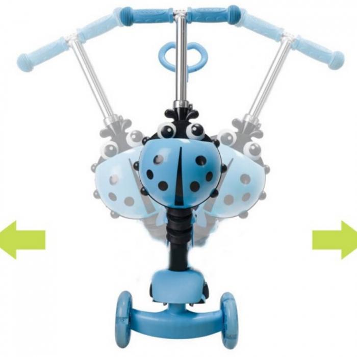 Trotineta evolutiva Scooter 3 in 1 cu lumini LED pentru copii - 4 culori disponibile [2]