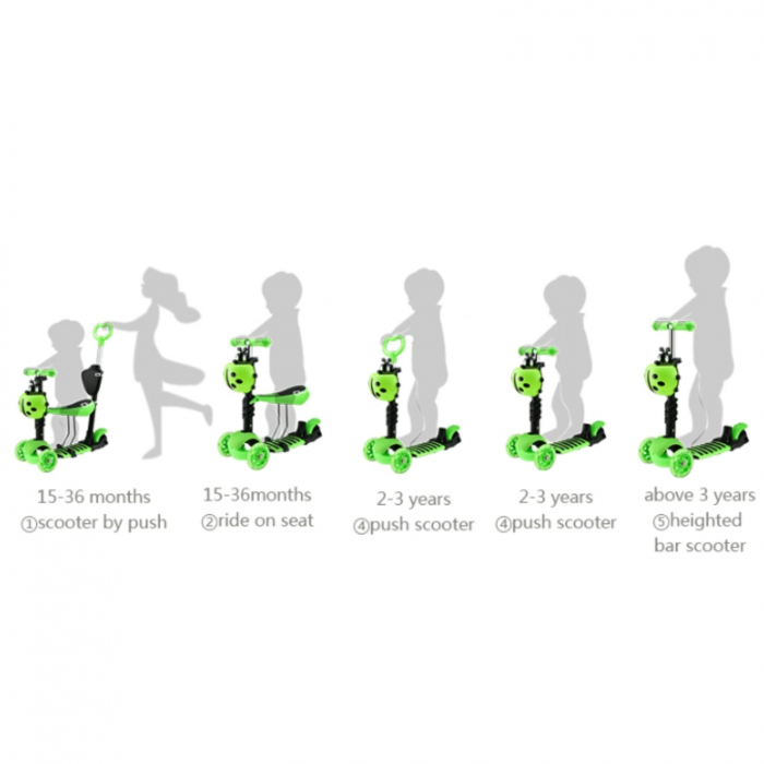 Trotineta evolutiva Scooter 5 in 1 pentru copii (4 culori disponibile) 3