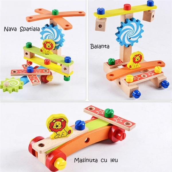 Jucarie din lemn SCAUN TAMPLAR - Joc de Constructii 3