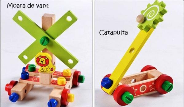 Jucarie din lemn SCAUN TAMPLAR - Joc de Constructii 2