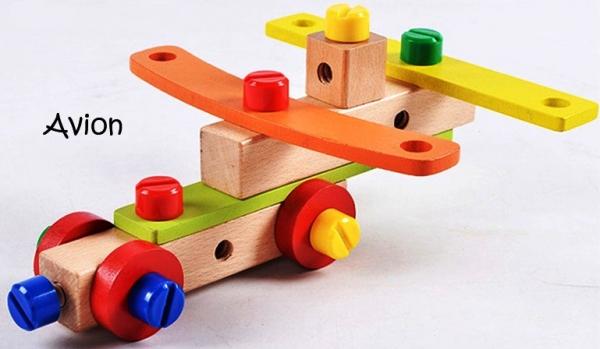 Jucarie din lemn SCAUN TAMPLAR - Joc de Constructii 1