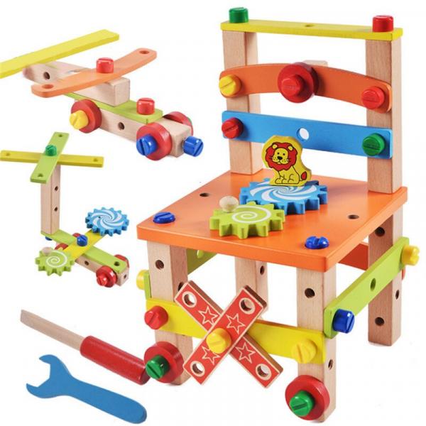 Jucarie din lemn SCAUN TAMPLAR - Joc de Constructii 0